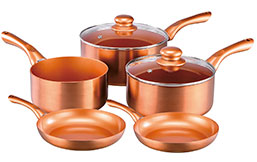 Cermalon Copper Pan Set